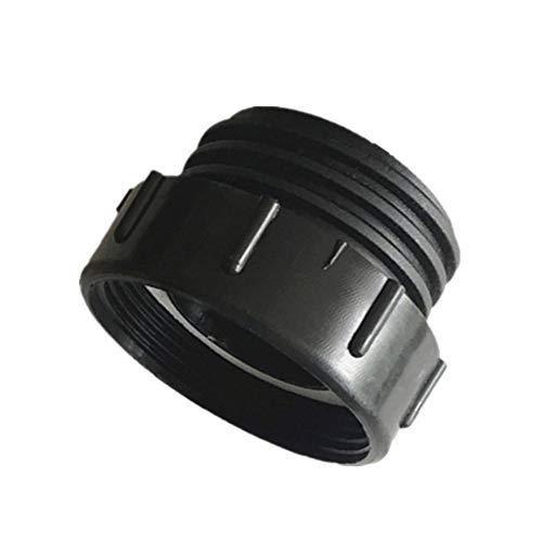 2 adaptadores de barril de carpa, adaptador de depósito de desagüe IBC, conector de plástico con cable fino (58 filamentos a 60 x 6)