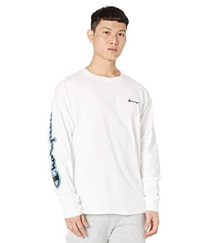 Champion Classic tee Camiseta, Color Blanco. Brazo y Pecho, S para Hombre