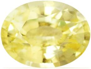 NEW before selling GemsNY Untreated 1.08 Max 41% OFF Carat Natural Oval Yellow Sapphire
