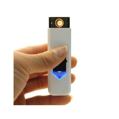 MANGO-USB recargable electrónico sin llama de mechero Blanco: Amazon.es: Electrónica