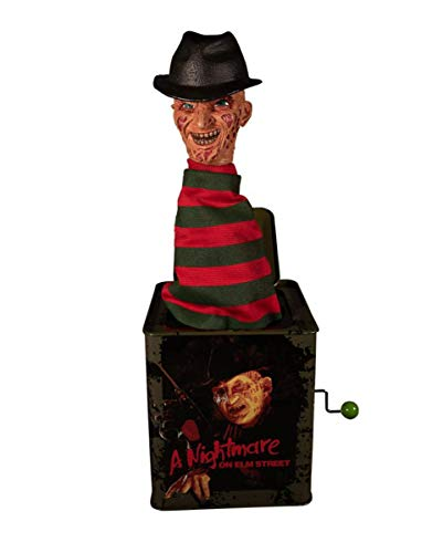 Horror-Shop Freddy Krueger Burst-a-Box Springteufel Sammlerfigur 36cm