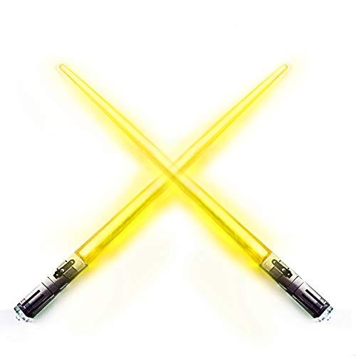 Chop Sabers Light Up LightSaber Chopsticks, 1 Pair, Yellow