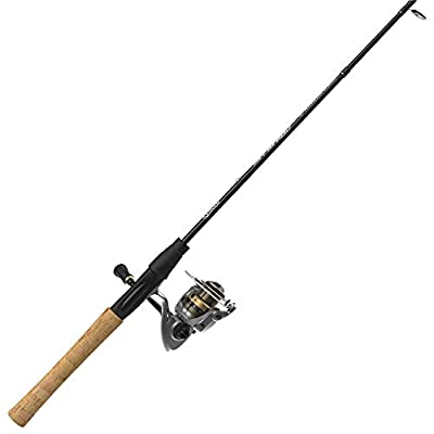 Quantum Strategy Spinning Reel and 2-Piece Fishing Rod Combo, IM7 Graphite Rod with Cork Handle, Continuous Anti-Reverse Clutch Fishing Reel, Multi, One Size (SR40702MHA.NS4)