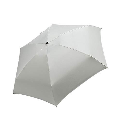 ミニ傘ポケットの女性が防風丈夫5折りたたみ太陽の傘ポータブル日焼け止めの女性のパラソル (Color : BG)