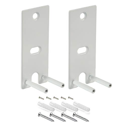 Pair Steel White Wall Mount Brackets Replacement Compatible with Bose OmniJewel Lifestyle 650 Home Entertainment System