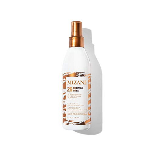 MIZANI 25 Miracle Milk Leave-In Conditioner | Moisturizing Detangler Spray| for Frizzy & Curly Hair | 8.5 Fl Oz