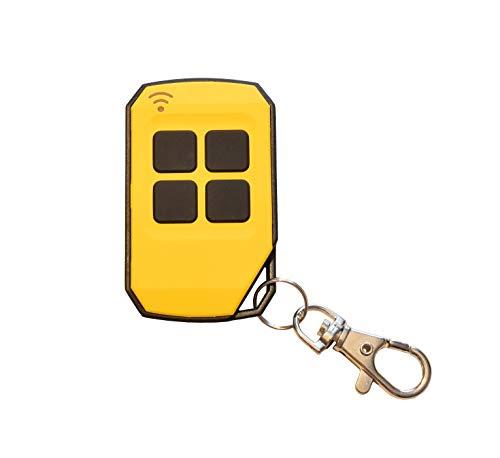 Universal Handsender 433,92 MHz in 4 verschiedenen Farben von Schartec - Funk Fernbedienung 433 MHz - Garagentoröffner 433.92 MHz für Garagentorantrieb (gelb)