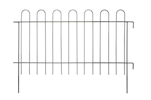 KADAX Gartengitter, Gitter aus Stahlstab, pulverbeschichteter Gartenzaun mit Metallbefestigungen, Teichzaun, dekorativer Zaun für Garten, Teich, Baum, Rabatte, Zaunelemente (Höhe: 70 cm)