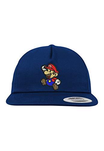 Youth Designz Kinder Junior Cap Kappe Modell Mario - Navyblau