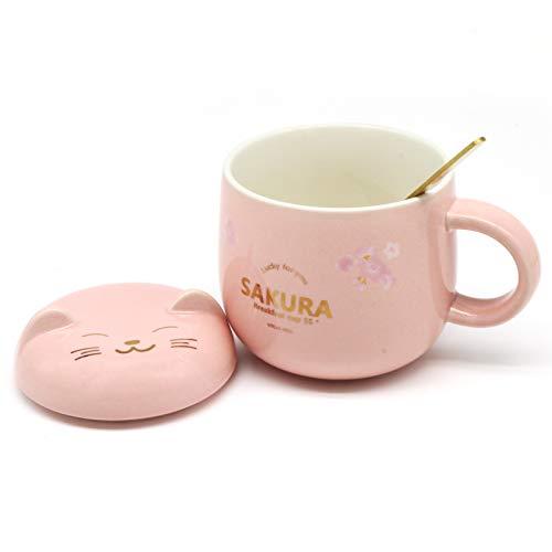Cute Ceramic Coffee MugCat Mug Funny Tea Cup for Office and Home Ceramic Mug Set Christmas Valentines Day Perfect Birthday Gift Pink1