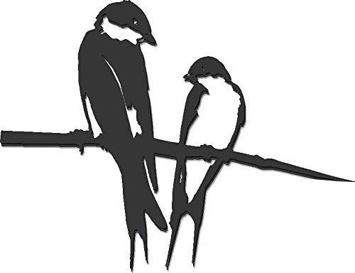 Metalbird Schwalbenpaar, Vögel auf Spike, aus Kortenstahl
