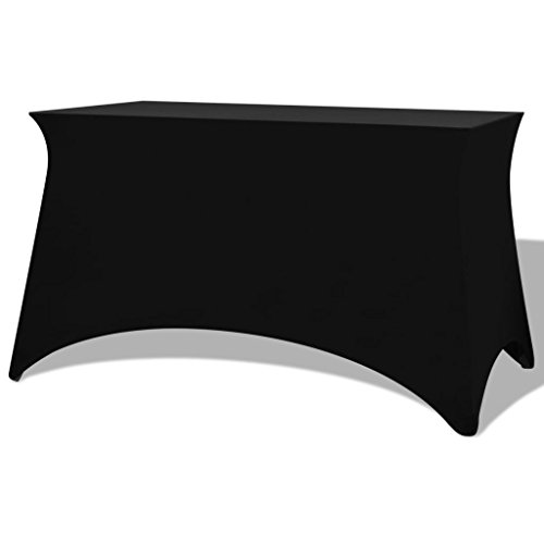 Tidyard Funda elástica para Mesa 2 uds 183x76x74 cm Negro
