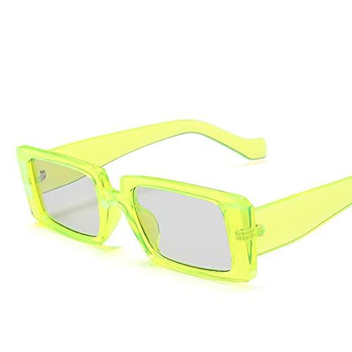 Gafas De Sol Cuadradas Retro para Mujer, Gafas De Sol Vintage para Mujer/Hombre, Anteojos De Marca De Lujo para Mujer, Verde Pequeño