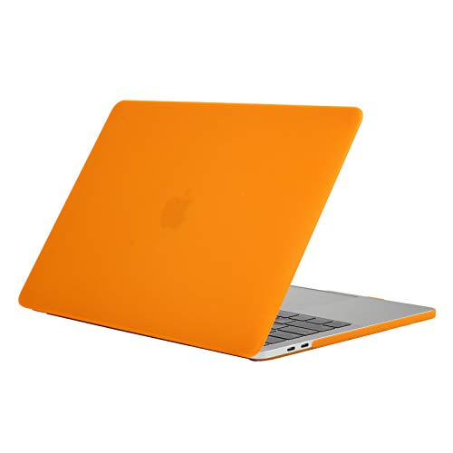 13peas Compatibel met de MacBook Air 13 inch hoes laptophoes mat plastic beschermhoes Clear Slim stootvast notebooktas schaal waterdichte harde case voor de MacBook Air 13 inch laptoptas, 11, oranje