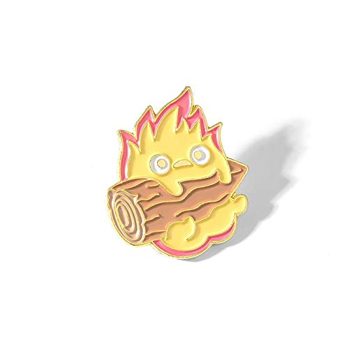 Enamel Pin Anime Brooches Fire Elf Badge for Bag Lapel Pin Buckle Jewelry Gift-Default