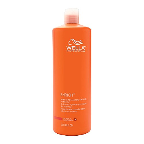 Wella Enrich Moisturizing Conditioner for Fine To Normal Hair 33.8 Oz (1 Liter), 33.8 Oz