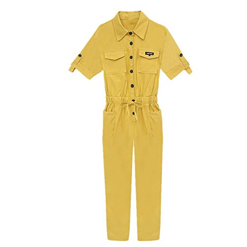 N\P Traje de verano de una pieza para mujer. amarillo L