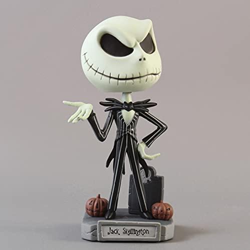 La Pesadilla Antes De Navidad Jack Jack Skellington / Freddy Krueger Bobble Head Doll PVC Colección De Figuras De Acción De Juguete 10Cm