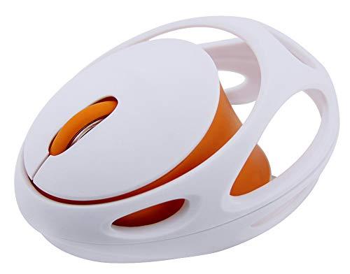 Leuke Muis Draadloze Muis Creatieve Mini Persoonlijkheid Ergonomische Muizen USB 2.4 Ghz Gevoeligheid Verstelbare 1600 DPI Foto-elektrische Rat Meisje Ms Mute Optische Muis size Kleur: wit