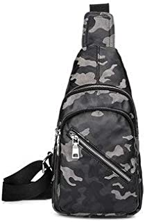 Men's Bags Crossbody Bags - Men Camouflage Chest Bag Large Capacity Tablet Casual Fashion Sling Bag Shoulder Crossbody Bag - Camouflage Grey -