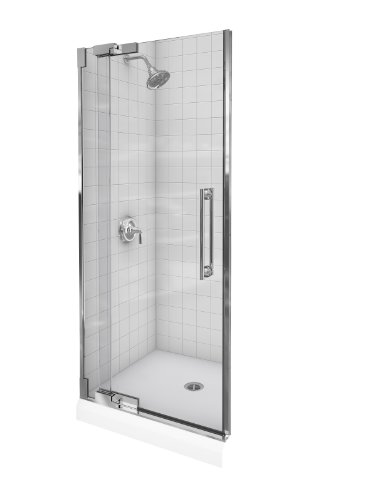 Amazing Deal Kohler K-705712-L-SHP Purist Heavy Glass Pivot Shower Door, 30 1/4 - 32 3/4, Bright P...
