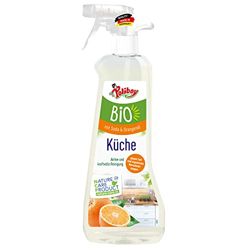 Poliboy - Bio Küchenreiniger - Aktive und kraftvolle Reinigung mit Seifenschaum für die ganze Küche - Vegan - Sprühflasche - 500 ml - Made in Germany