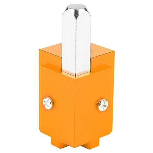 Cincel de esquina de ángulo recto autoalineado de corte rápido de alta precisión para cerradura de puerta Recesse con llave hexagonal (dorado)