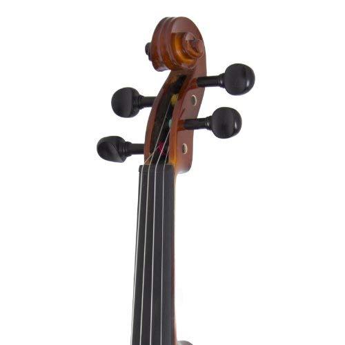 Cecilio Violín para principiantes – Kit de violines para principiantes para estudiantes con estuche, colofonia, 2 arcos, sintonizador, libro de primera lección – Instrumentos musicales para niños y adultos