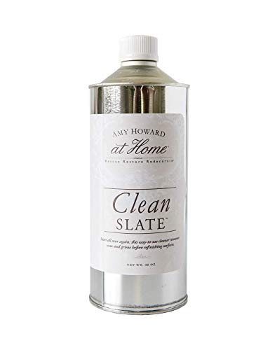 Amy Howard at Home Clean Slate | Removes Old Finishes, Dirt, Oil & Waxy Residue | Cleaning Solution | For Refinishing & Restoration Projects | 32 oz