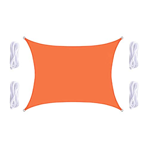 KLFSJD Velas De Sombra,protección De Vela De Sombra Solar Rectangular Impermeable Y Protección UV para Toldos Exteriores para Patios (3.6 * 3.6m,Naranja)