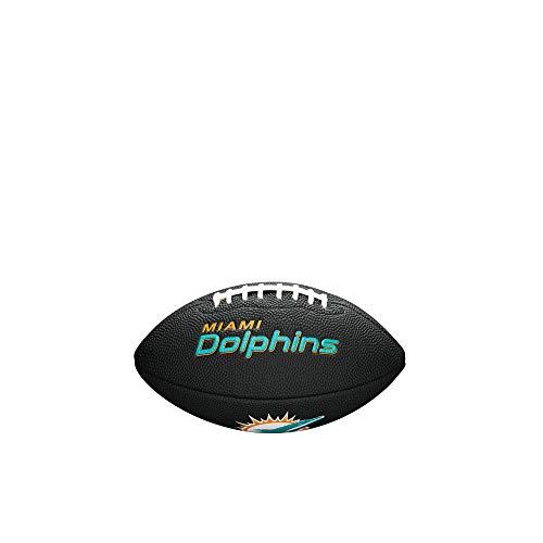 Wilson - ballon de Football Américain Wilson Soft touch NFL team logo Miami Dolphins Noir