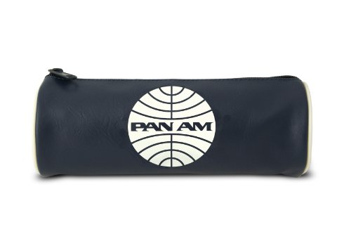 Logoshirt Etui Pan Am Logo - Federmappe - Airline Kosmetiktasche - blau - Lizenziertes Originaldesign