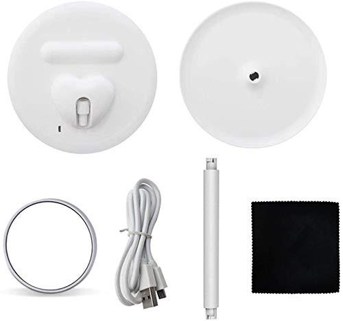 XHDMJ Schminkspiegel Led Touch 3 Modi Beleuchtungsspiegel Abnehmbar/Aufbewahrungsbasis Ist Weiß