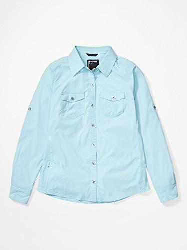 Marmot Dames Wm's Annika Ls blouse lange mouwen met UV-bescherming, sneldrogend, ademend