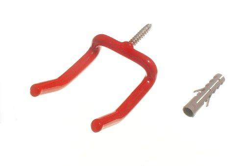 mur rouge grand crochet crochet de rangement d'outils avec des chevilles (pack de 20)