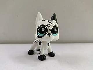 Littlest pet Shop Shop LPS OOAK Hand Painted Custom White Black Great Dane Dog