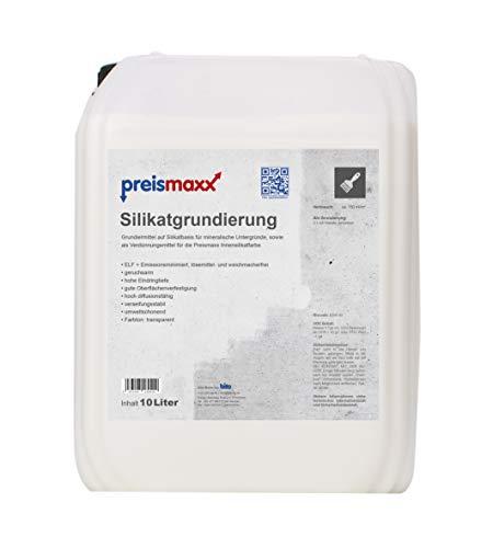 preismaxx Silikatgrundierung, 10 Liter, Grundierung und Verdünnung für Silikatfarben für innen und außen