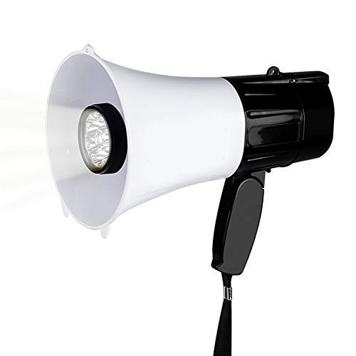 Zixin Multifunktions-Megaphon-Lautsprecher mit Taschenlampen-30W-Bügel-Griff-Hand Lautsprecher Recording Horn Tour Guide Lautsprecher