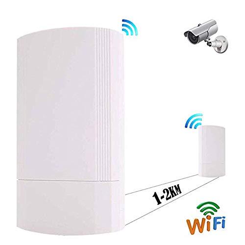 ZXCV 2ST 300Mbps-Wireless-CPE Außen 2KM P2P Wireless Bridge Router WiFi Repeater Unterstützt WDS-Funktion mit LED-Anzeige,White