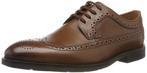 Clarks Ronnie Limit, Scarpe Stringate Brouge Uomo, Marrone (British Tan Lea British Tan Lea), 43 EU