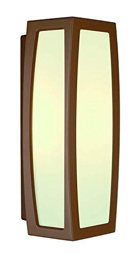 SLV Meridian Box inbouwlamp met sensor, aluminium/kunststof, E27, roest, 14 x 13,5 x 38 cm