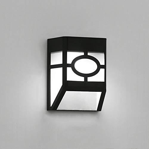 Moderne eenvoudige buitenlamp op zonne-energie, waterdicht, LED-wandlamp, milieuvriendelijk, acryl, lampenkap voor Patio Villa balkon wandlamp (2 stuks)