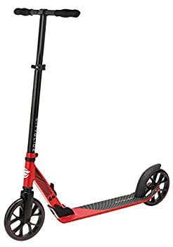 CITYGLIDE C200 Kick Scooter for Adults Teens - Foldable Lightweight Adjustable - Carries Heavy Adults 220LB Max Load  Red