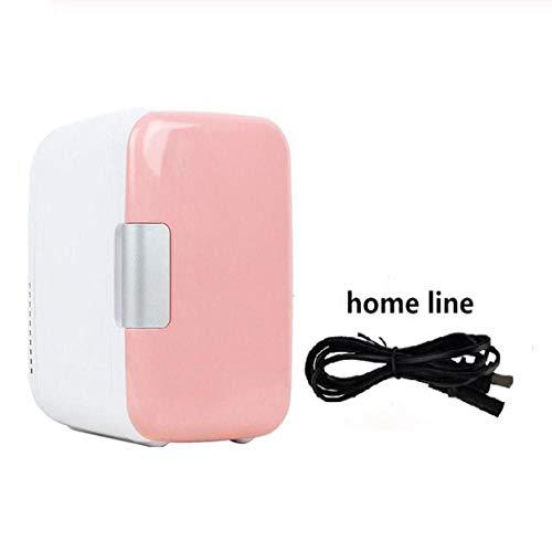 XTBB Auto Mini Kühlschrank Gefrierschrank 4 L Kleine Kühlschränke Zum Heizen Erwärmen Kühlschränke Gefrierschrank Kühler Für den Heimgebrauch Für 220V Pink-Homeuse