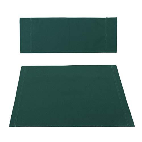 Tutoy 4 Colores Casual Directores Silla Lona Asiento Trasero Kit De Reemplazo De La Cubierta - Verde