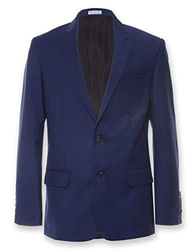 Calvin Klein Big Boys' Blazer Suit Jacket, Infinite Blue, 20 Husky