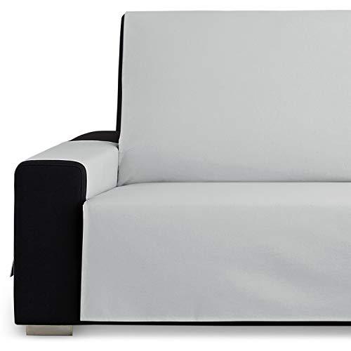 Vipalia Protector Funda Sillon 1 Plaza o Sillon Relax. Fundas para Sofa Loneta Lisa. Comodo Practico Resistente. Algodon Ecologico. Facil Montaje. Calidad Diseño Royale. Color Gris. 1 Plaza
