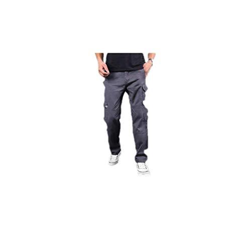 Pantalones Cargo de Ajuste Recto para Hombre Pantalones tácticos Lavados de Lona elástica duraderos Resistentes al Desgaste Pantalones de Escalada para Caminar y Trabajar al Aire Libre XX-Large