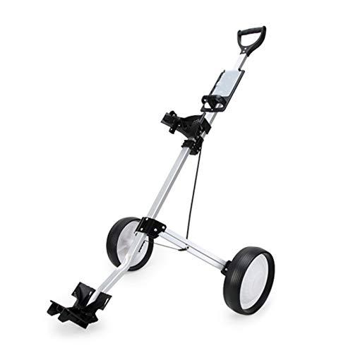 OMVOVSO Push-Pull-Golf Cart, A Second Öffnen Und Schließen Der Wagen Klappwagen Mit Rädern Golf Vorderrad Rotating Wagen,Schwarz