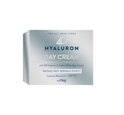 Cien 4D Hyaluron Tagescreme für jeden Hauttyp mit 4-fach Hyaluron-Komplex und Rotalgenextrakt, 50 ml